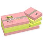Стикеры Post-it Basic 38x51 мм неоновые 3 цвета (12 блоков по 100 листов)